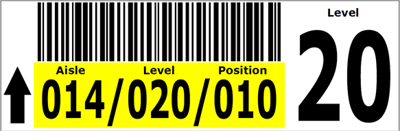 Warehouse beam Label Example